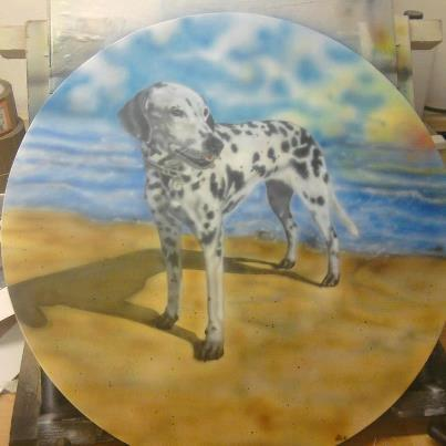 airbrush canvas dalmatier
