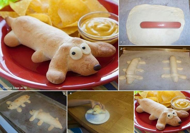Maak zelf een echte hotdog!