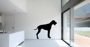 muursticker hond