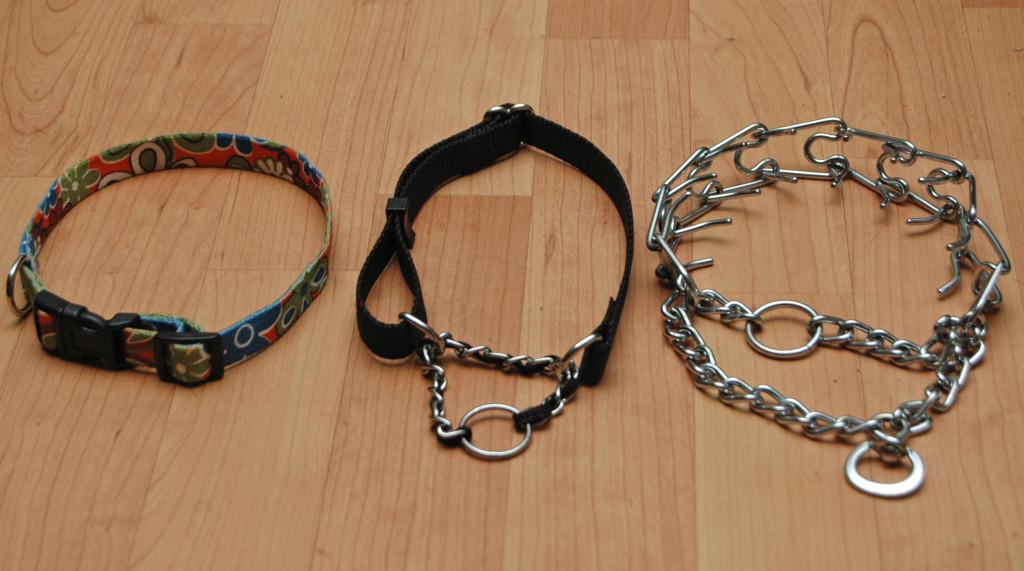 Hulpmiddelen bij het begeleiden en trainen van honden: Halsbanden